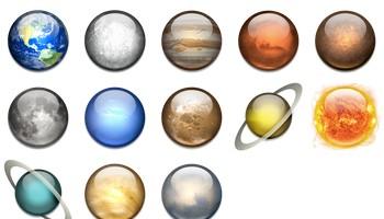 Solar System Icons by Dan Wiersema
