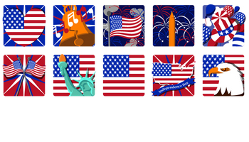 Independence Day Icons by Edward Dennis