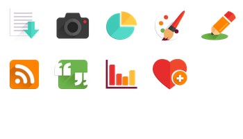 Flat Icons by Nikki Clark