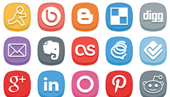 Cute Social Media Icons by DesignBolts