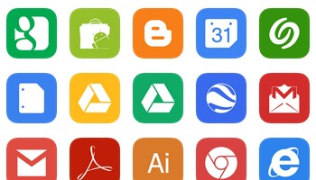 iOS 7 Style Metro UI Icons