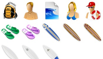 Surf Icons by Fast Icon Design