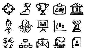 Busy Icons by Hand Drawn Goods