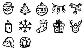 Merry Icons by Hand Drawn Goods