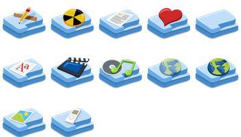 Fush Folders Icons by xtudiando