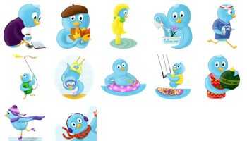 Seasons Tweeting Icons by Xenia