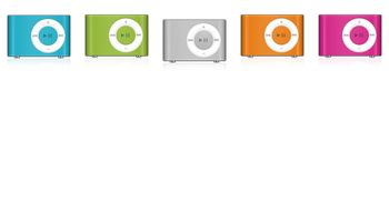 iPod Shuffle Colors Icons by Whiteball