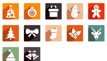 Christmas Shadow Icons by PelFusion