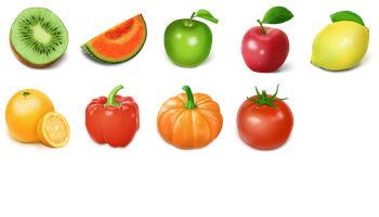 Fruit and Vegetable Icons by bingxueling