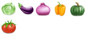 Vegetables Icons by Guo Xiaofeng