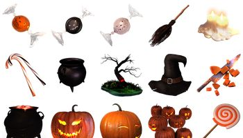 Sweet Halloween Icons by Thomas Veyrat