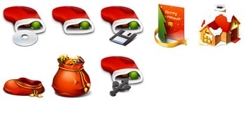Red Christmas Icons by Harwen