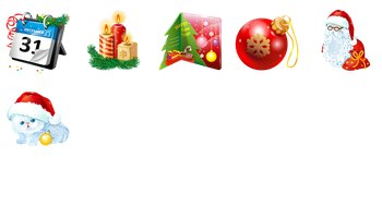Plastic New Year Icons by PaintIcon