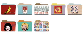 Warhol Folders Icons by rebelheart