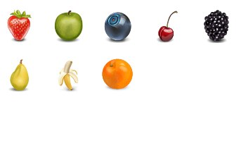 Fruit Icons by miniartx