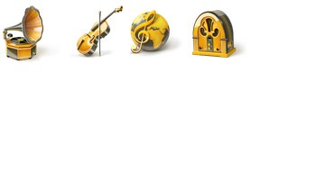 Music Icons by Vlademareous