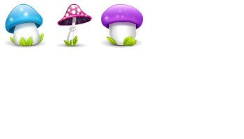 Mushrooms Icons by Madoyster