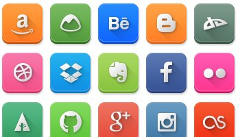 Modern Social Media Rounded Icons by LunarTemplates