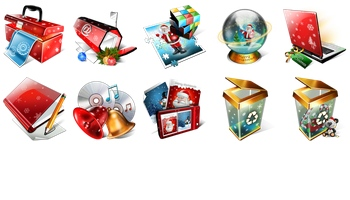 Magic Christmas Icons by lgp85