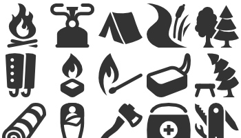 Camping Equipment by icons8