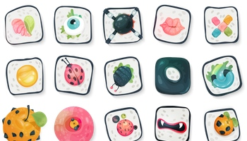 Sushi Icons by Klukeart