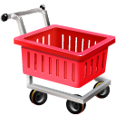 иконка empty shopping cart, пустая тележка, шоппинг,